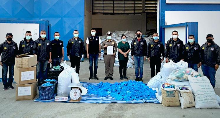 Hard optreden door autoriteiten tegen recycling en doorverkoop van gebruikte rubber handschoenen
