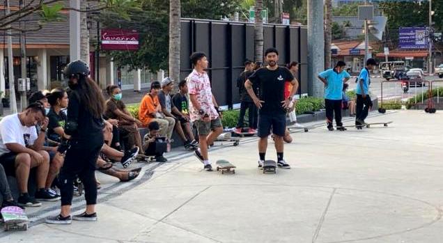 Terminal 21 Pattaya biedt gratis ruimte aan voor skateboarders