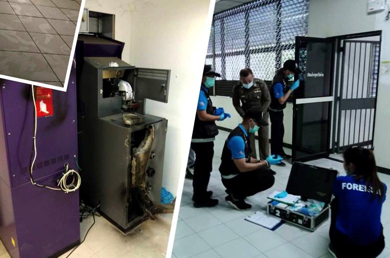 Overvallers op blote voeten stelen 2,1 miljoen baht uit geldautomaat in Chiang Mai