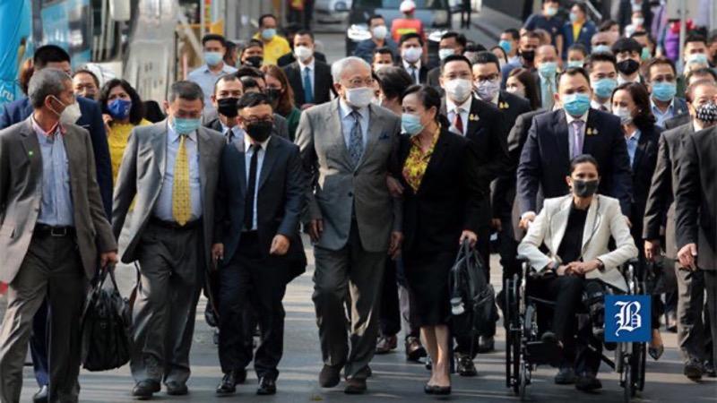 PDRC-leiders gevangen gezet voor terrorisme, opstand over straatbijeenkomsten, een aantal van hen  zijn huidige kabinetsleden