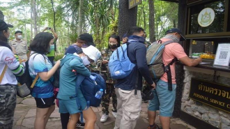 Het nationaal park Phu Kradueng in Loei is weer voor bezoekers opengesteld