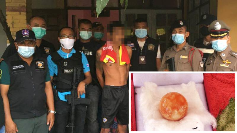 Vinder van waardevolle oranje Melo parel gearresteerd IVM drugszaak
