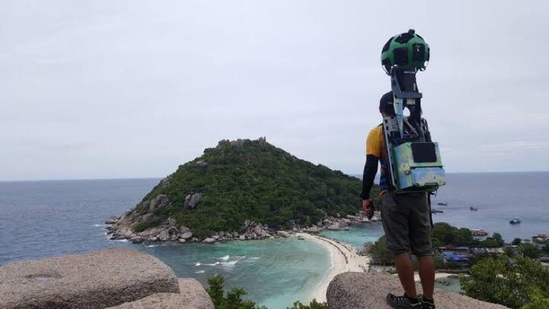 De Thaise triatleet, Khun Panupong Luangsa-ar tippelde 500 kilometer dwars door Thailand voor Google Street View