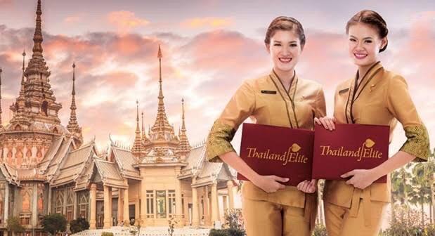 De elite kaart van Thailand is uit de rode cijfers gekomen