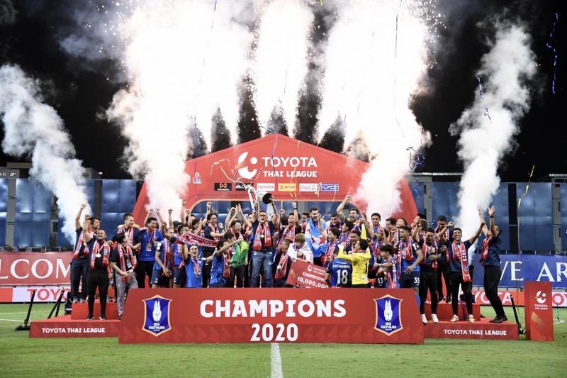Pathum United kroonde zich tot voetbalkampioen van Thailand