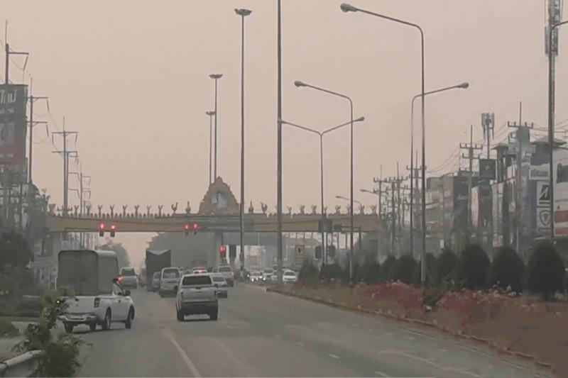 De aanhoudende smog in Chiang Mai zorgt voor extreem hoog ziekenhuisbezoek