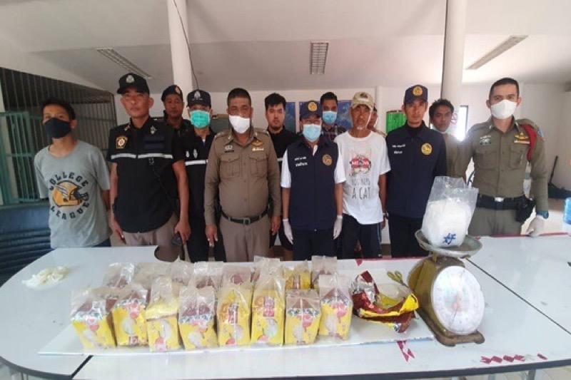 17 pakjes methamfetamine op het strand van Koh Mak gevonden