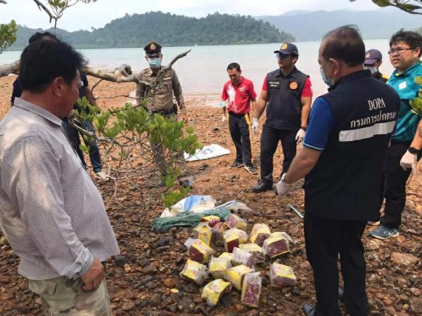Nogmaals drugs aangespoeld op Koh Chang