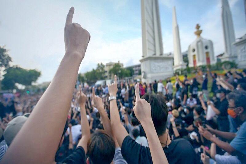 Automobilisten in Bangkok is geadviseerd om vanmiddag het gebied rond Sanam Luang te vermijden