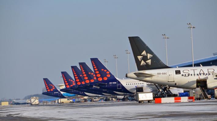Brussels AirPort hard geraakt door Belgisch vliegverbod