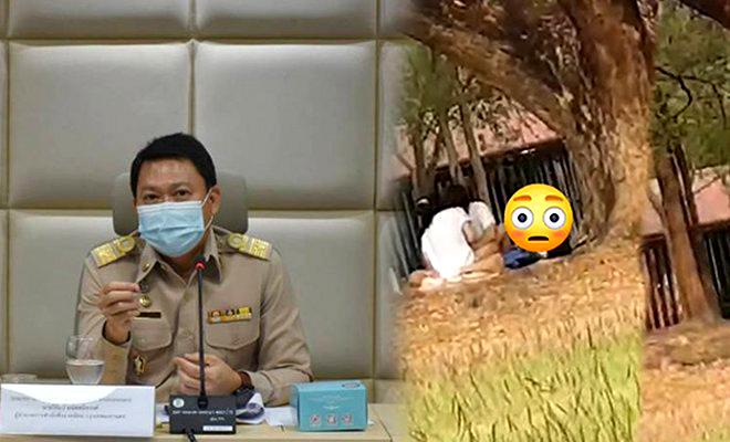 Politie zoekt stel dat seks had in drukbezocht park in Bangkok – video