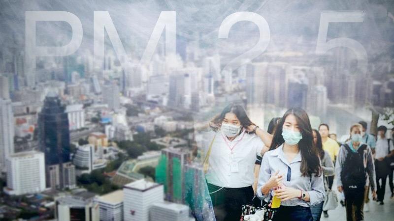 In Bangkok en vier andere provincies in Thailand is het ademen gevaarlijk