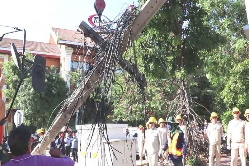 Het ondergronds brengen van kabels in Pattaya zal aan het einde van het jaar achter de rug zijn