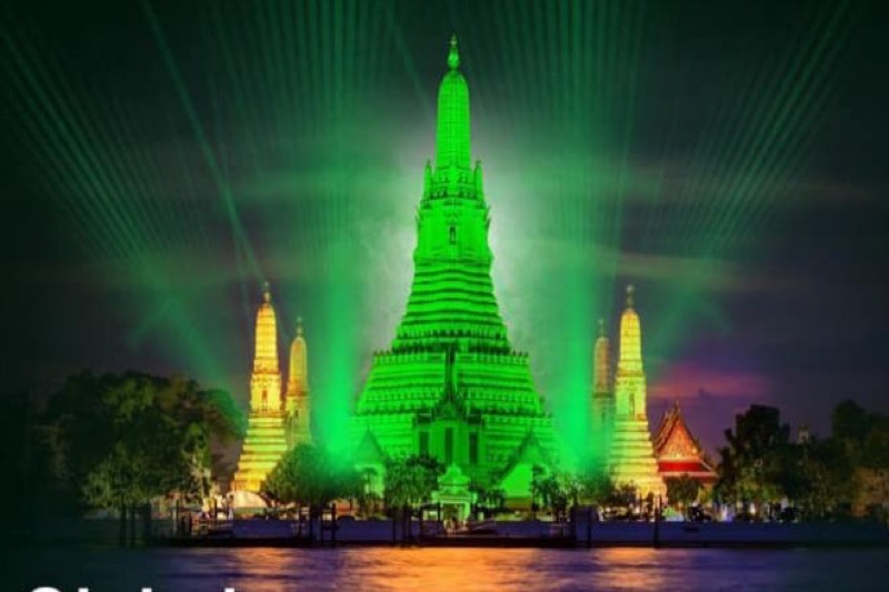 De Wat Arun staat morgenavond op St Patrick's Day in groen licht