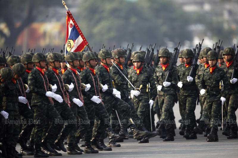 Het Thaise leger wil het aantal generaals met 25 procent gaan verminderen