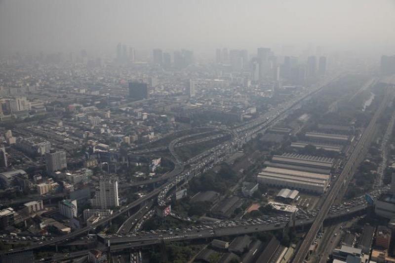 De luchtkwaliteit in Bangkok laat te wensen over en zou zelfs ongezond zijn!