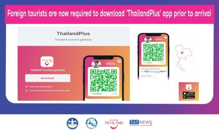 De tracking apps zijn verplicht voor alle buitenlandse toeristen in Thailand