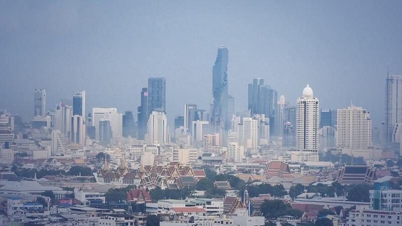 De luchtvervuiling in Bangkok is stijgende, ook 31 provincies ervaren dit ongemak!