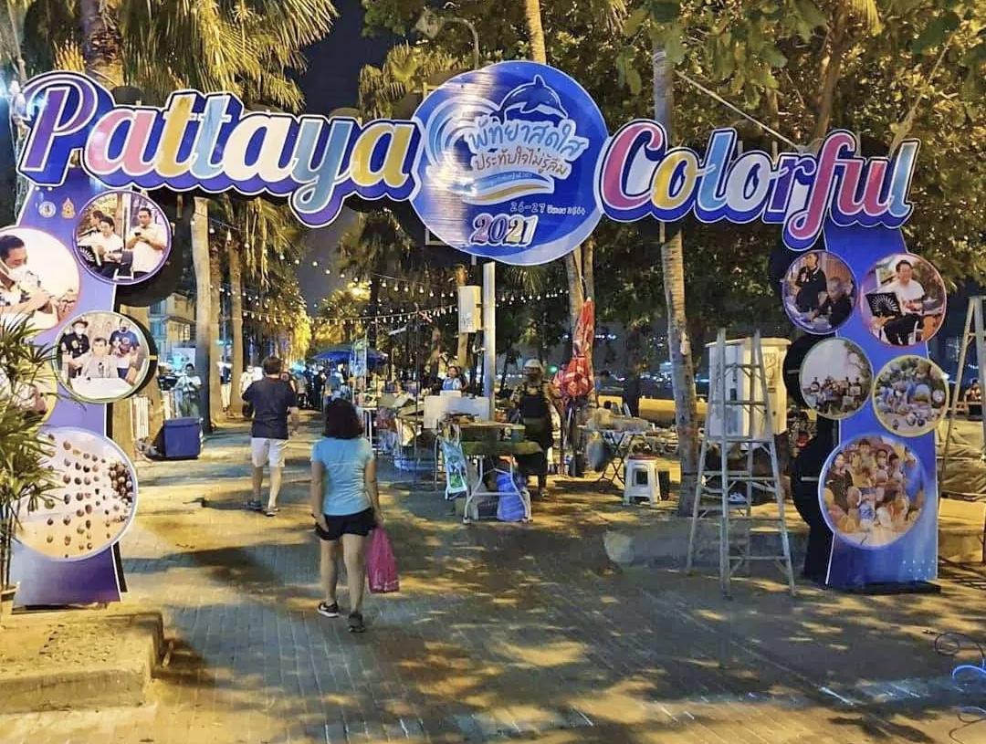 Pattaya houdt dit weekend het 'PATTAYA COLORFUL Festival 2021' op Beach Road