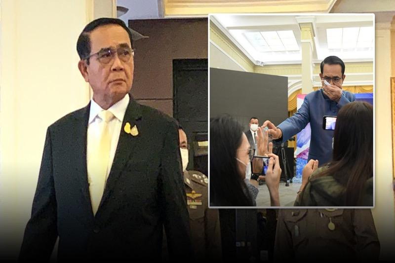 Premier Prayut Chan-o-cha biedt excuses aan voor het besproeien van verslaggevers met een desinfecterend middel