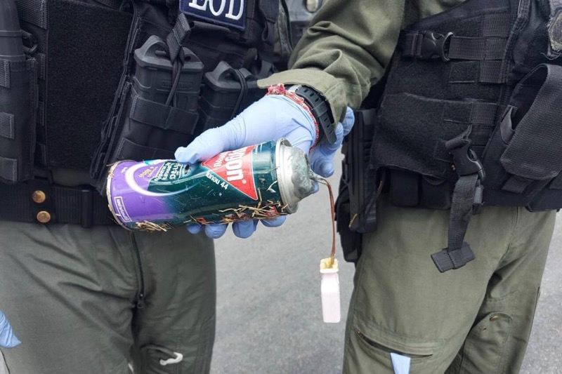 Bommen gevonden in gestolen vrachtwagen achter het politiebureau in Yala