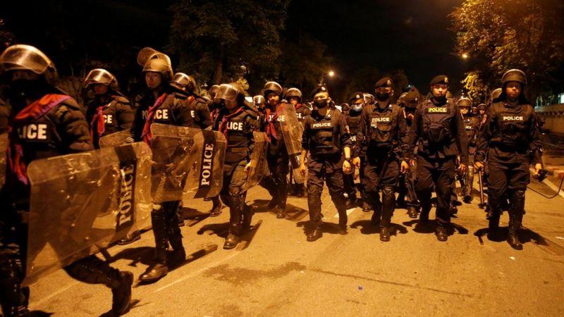 5000 politieagenten maken zich vandaag klaar voor de protesten in Bangkok