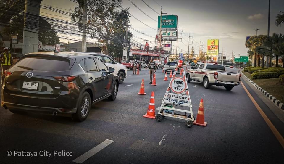 In Pattaya en omgeving zijn er her en der weg-ophoudingen