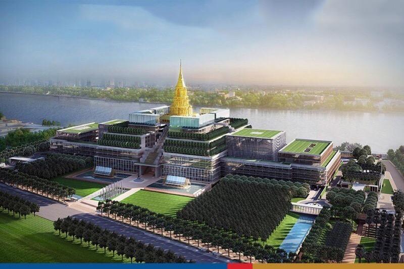 Het nieuwe parlementsgebouw in Bangkok van 12 miljard baht wordt volgende maand geopend