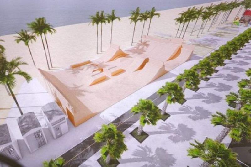 Meer parkeerplaatsen en toiletten aan het strand Jomtien Beach gepland