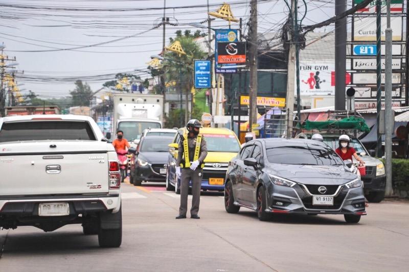 In het kader van Songkran zijn in en rond de kustplaats Pattaya verschillende checkpoints geïnstalleerd
