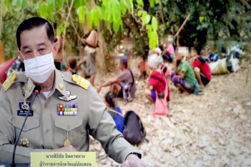Mae Hong Son heeft 2000 Karen-vluchtelingen opgevangen