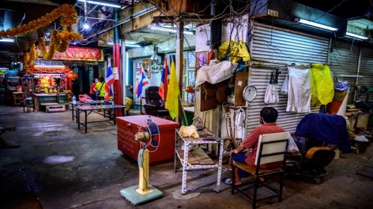 De economische groei van Thailand in het eerste kwartaal ingestort