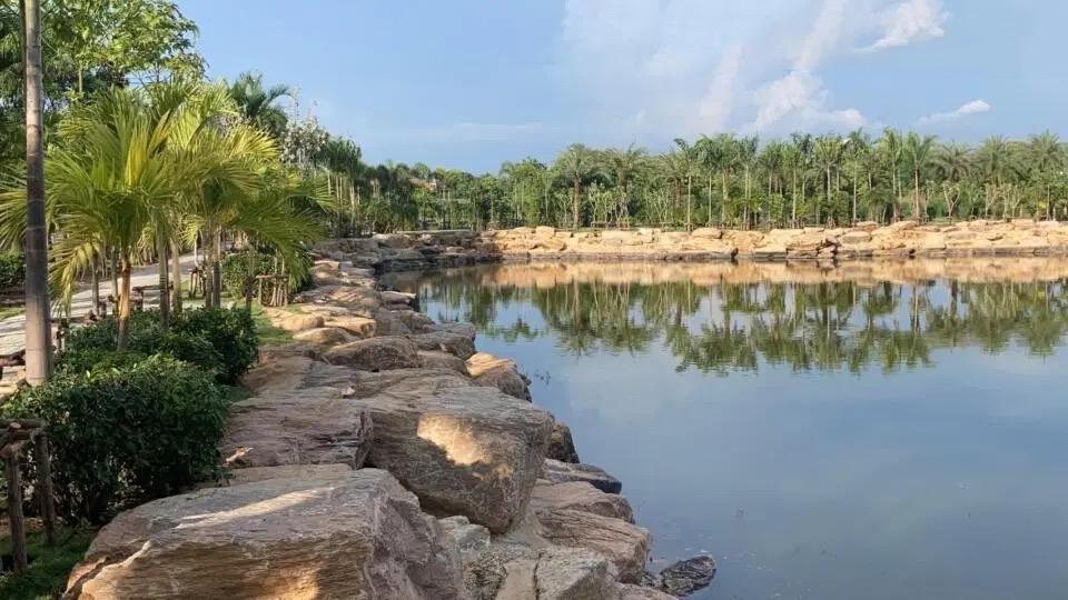 VIDEOCLIP | Het nieuwe stadspark in Jomtien is bijna voltooid