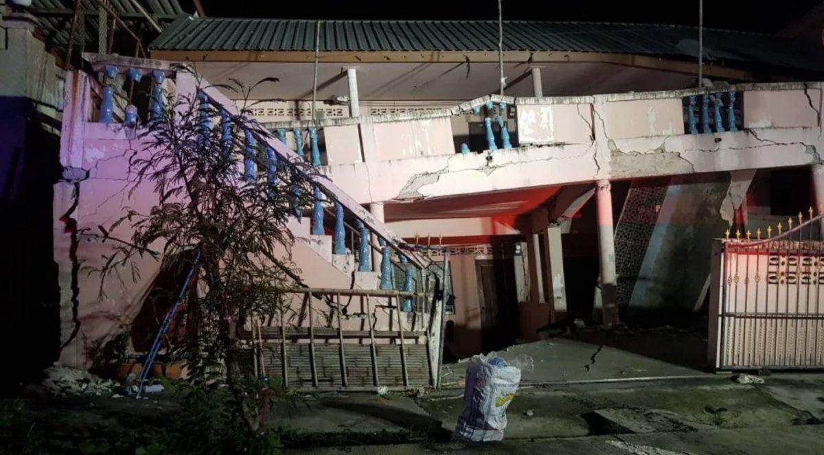 Gebouw in Chonburi stort in, bewoners weten het gebouw tijdig te verlaten