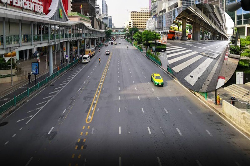 Inwoners van Bangkok gevraagd om vanuit huis te werken om Covid-19 te voorkomen