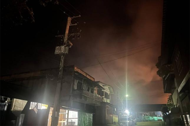 Kanchanaburi opgeschrikt door bommen nabij de grens met Myanmar