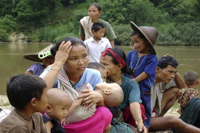 Thailand heeft in Mae Hong Son een veilige zone ingesteld voor vluchtelingen die het geweld in Myanmar ontvluchten