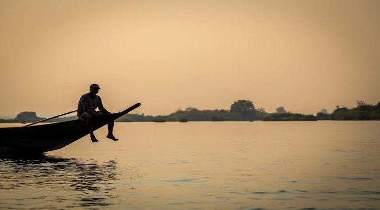 Het water in de Mekong rivier krijgt weer met een flinke dip te maken
