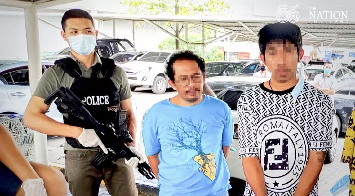 Politie pakt drie cannabissmokkelaars bij een winkelcentrum in Bangkok op