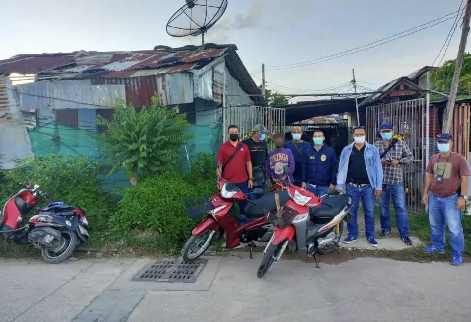Motordief in Pattaya gearresteerd, een tweede verdachte is nog op de vlucht