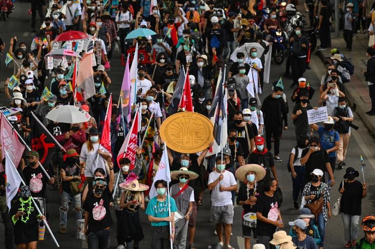 Politie Bangkok wilt de protestleiders van gisteren aanklagen