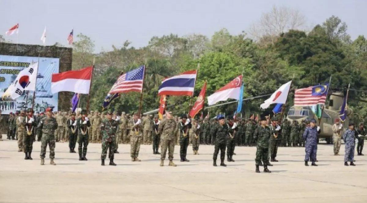De jaarlijkse Cobra Gold 2021 in Thailand beknopt vanwege de Covid19 pandemie