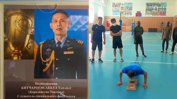 Soldaat van de Koninklijke Thaise luchtmacht verbreekt internationaal militair record voor push-ups