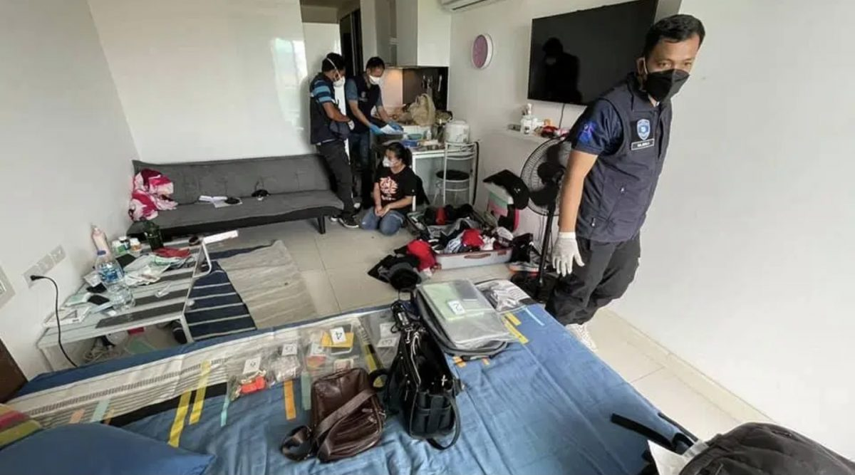 Nigeriaan en Thaise vrouw in Pattaya wegens romantiek zwendel opgepakt, de Nigeriaanse man sprong uit raam om aan politie te ontsnappen