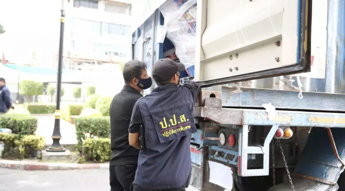 314 kilo in plastic verfemmers verborgen heroïne in de haven van Chonburi vlak verscheping naar Australië in beslag genomen