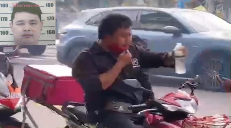 VIDEOCLIP | Voedselbezorger van Panda ontkent zich schuldig gemaakt te hebben aan majesteitsschennis