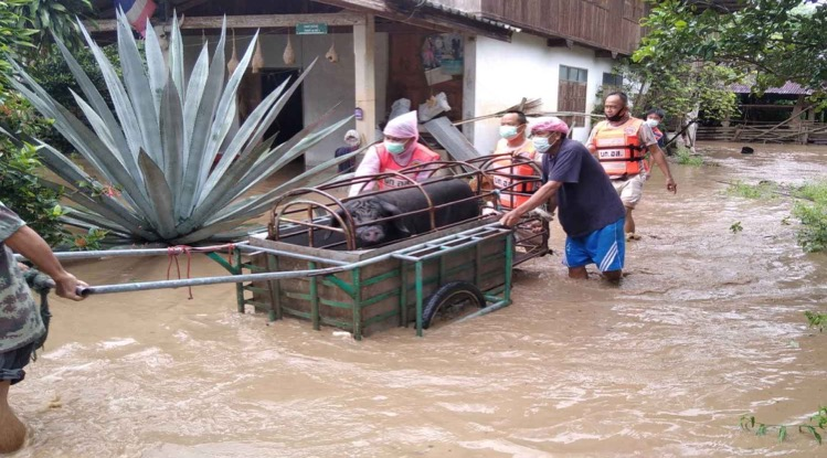 Vanaf vandaag werden er zware regens voor 22 provincies in Thailand voorspeld