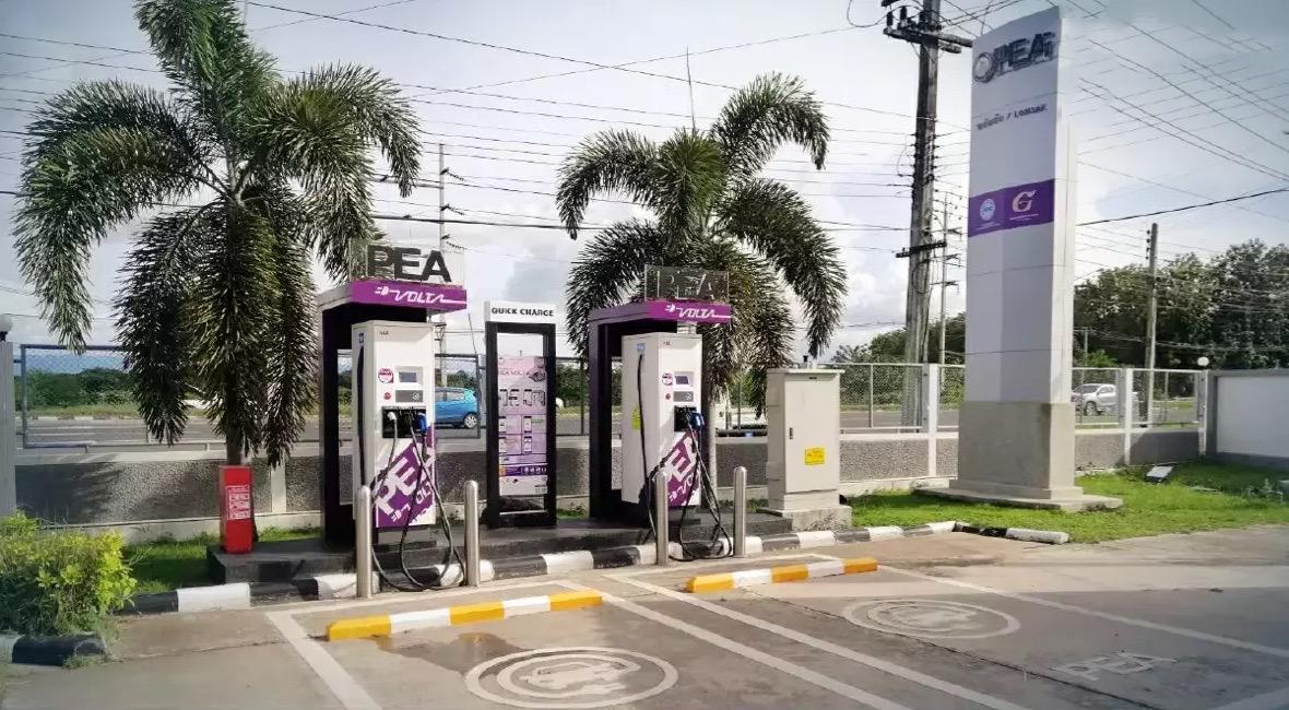 De Provinciale Elektriciteitsautoriteit gaat het opzetten van laadpalen in Thailand versnellen