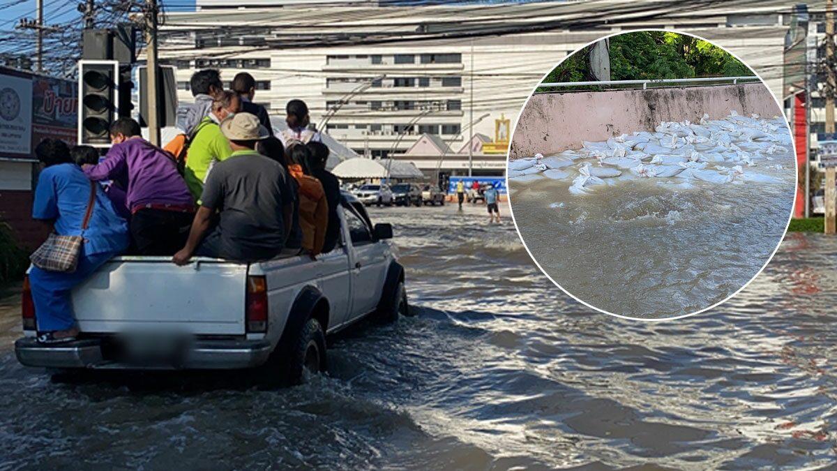 BREAKING NEWS | Vandaag raakte het grootste ziekenhuis in de provincie Korat in Thailand overstroomd
